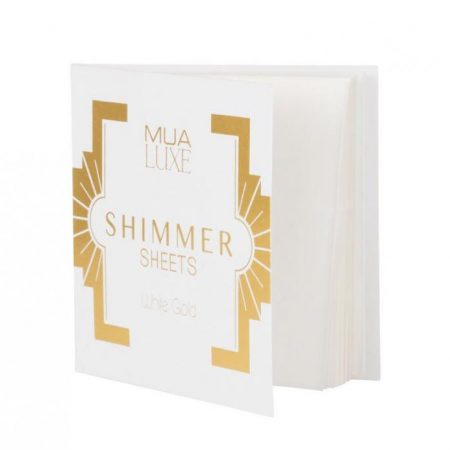 Foite iluminatoare Luxe Shimmer Sheet MUA Makeup Academy Professional White Gold