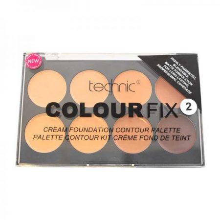 Trusa Profesionala cu 8 Fonduri De Ten Cremoase Pentru Conturarea Fetei Technic Colour Fix 2 8x3.5g